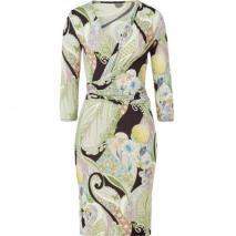 Etro Multicolor Floral Jersey Kleid