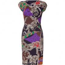 Etro Multicolor Mixed Print Jersey Kleid