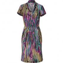 Etro Reed/Magenta Multi Patterned Silk Kleid