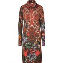 Etro Rust/Olive Fantasy Flower Print Knit-Dress