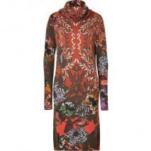 Etro Rust/Olive Fantasy Flower Print Knit-Dress