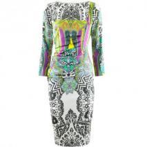 Etro Viola Multi Print Drape Dress