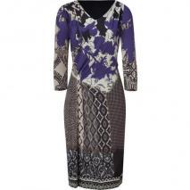 Etro Violet/Beige-Multi Jersey Kleid