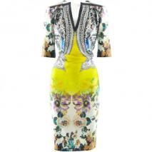 Etro Yellow Multi Print Tunic Dress