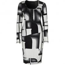 Expresso Jerseykleid black white