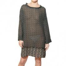 F&MME Bedrucktes Woll Crepe Kleid