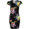 Fairground Ready Or Not Jerseykleid black/floral