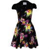 Fairground The Librarian Dress Blusenkleid Black/floral