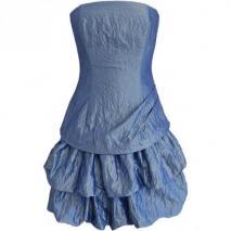Fashionart Ballkleid blau Trägerlos