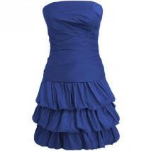 Fashionart Ballkleid blau Trägerlos Schulterfrei