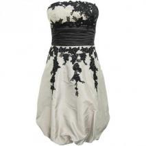 Fashionart Ballkleid grau mit schwarzen Details