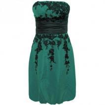 Fashionart Ballkleid grün Schulterfrei