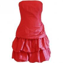 Fashionart Ballkleid red mit Raffungen
