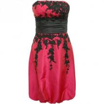 Fashionart Ballkleid rot mit schwarzen Details