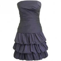 Fashionart Ballkleid violett Schulterfrei