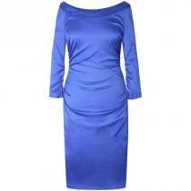 Fashionart Gerafftes Kleid Etuikleid blue
