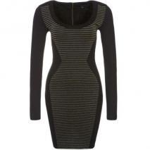 French Connection Lara Jerseykleid black/gold stripe