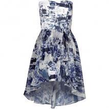 French Connection Woodblock Wonder Cocktailkleid / festliches Kleid white/ blue thron