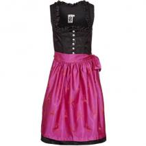 German Princess Brokat Hirsch Cocktailkleid / festliches Kleid pink