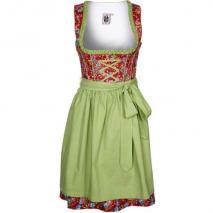 German Princess Cocktailkleid / festliches Kleid rotgrün
