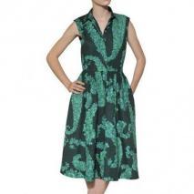 Giambattista Valli Bedrucktes Kleid Aus Baumwollpopeline