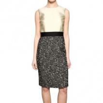 Giambattista Valli Woll Crepe & Tweed Kleid