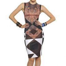 Givenchy Bedrucktes Viskosen Strick Kleid