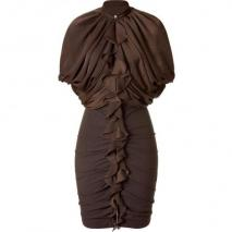 Givenchy Dark Olive Combo Kleid with Zip Front