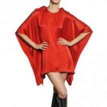 Givenchy Seiden Satin Drapiertes Kleid