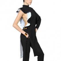 Givenchy Stretch Viskose Cady Kleid Mit Rüschen
