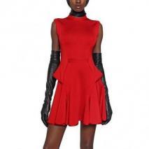 Givenchy Viskose Punto Milano Kleid Rot
