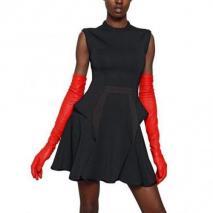 Givenchy Viskose Punto Milano Kleid Schwarz