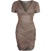 Halston Heritage Cocktailkleid / festliches Kleid taupe