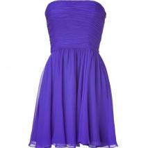 Halston Heritage Purple Strapless Swing Kleid