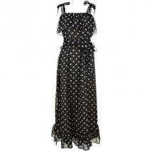 Haute Hippie Flirty Ruffle Long Dress Schwarz
