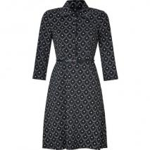 Hoss Intropia Black and Almond Belted Dress