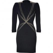 Hoss Intropia Black Studded Dress