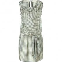 Hoss Intropia Steel Dot Printed Silk Dress