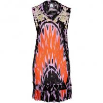 House of Wilde Kozmic Blues Jerseykleid primitive print black/orange