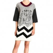 Iceberg 3/4 sleeve large collar print dress