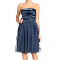 Iceberg Satin chiffon skirt strapless dress