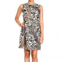 Iceberg Silk print sheath dress