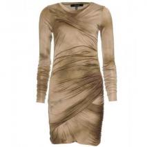 Isabel Marant Courtney Drapiertes Kleid Goldgrün