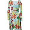 Issa Azure Silk Jersey Wrap Dress