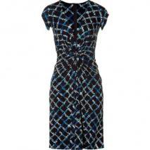 Issa Black Printed Silk Jersey Dress