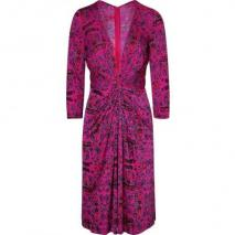 Issa Magenta Fantasy Print Silk Jersey Dress for STYLEBOP.com
