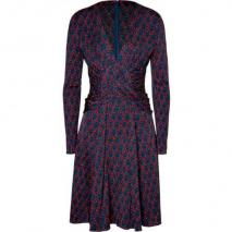 Issa Pigeon/Carmine Red Silk Jersey Dress