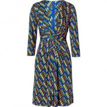 Issa Royal/Apple Multi Geometric Print Silk Jersey Dress
