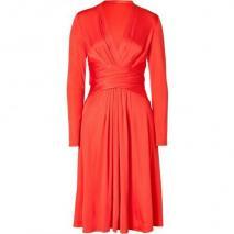 Issa Tomato Wrap Silk Jersey Dress