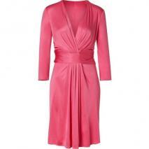 Issa Watermelon Wrapped Waist Silk Jersey Dress